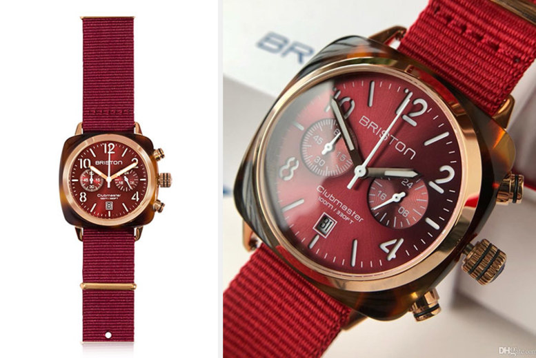 Briston Clubmaster Classic Tortoise Shell Red Unisex Watch