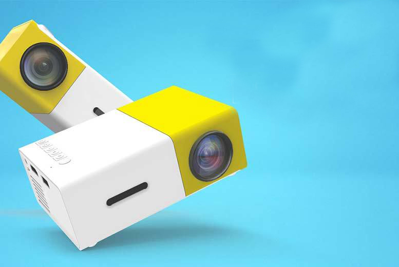Mini Yellow LED YG300 Projector