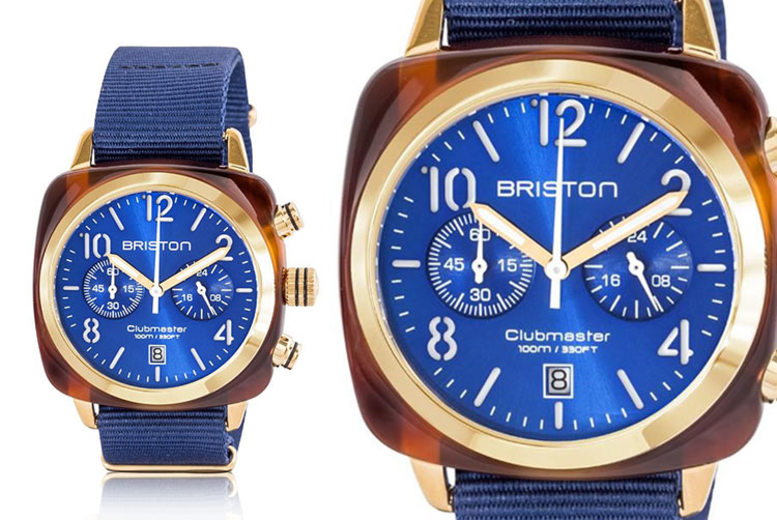 Briston Clubmaster Classic Tortoise Shell Blue Unisex Watch