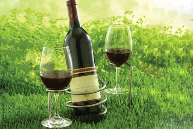 Wine Bottle & Glass-Holder Set – Perfect for Picnics!