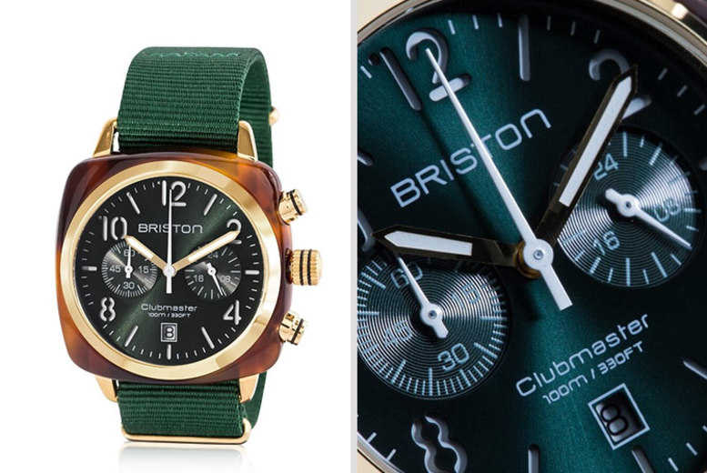 Men's Briston Clubmaster Acetate Chronograph Watch
