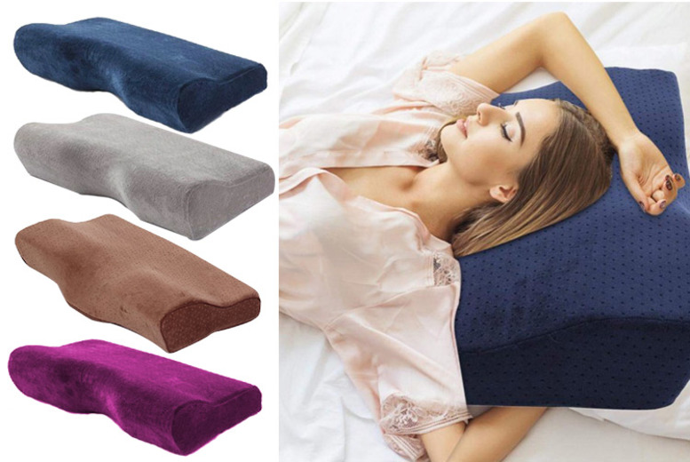 Memory Foam Pillow – 4 Colours! for £11