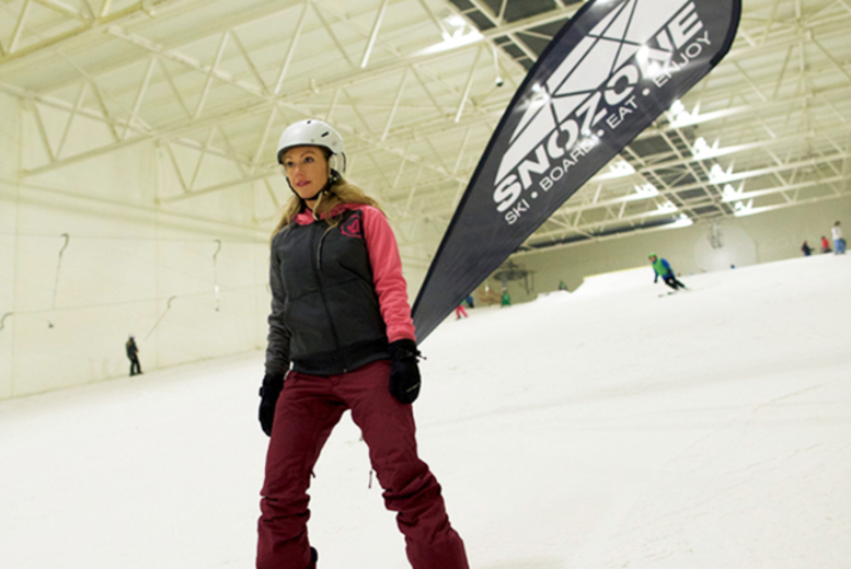 Full-Day Skiing or Snowboarding Course @ Snozone, Milton Keynes