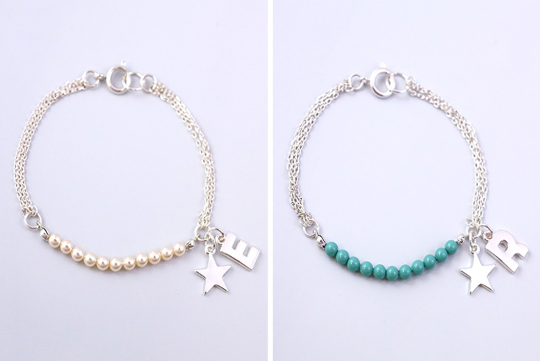 Personalised Charm Bracelets w/ Pearls from Swarovski ® – 2 Colours