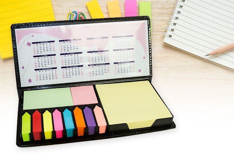 Sticky Note Memo Pad with 2018-2019-2020-2021 Calendars