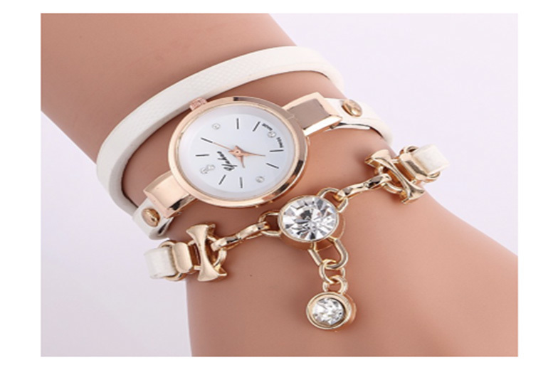 Snake Wrap Crystal Watch - 3 Colours!