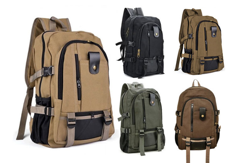 Canvas Backpack – 5 Colours! (£12)