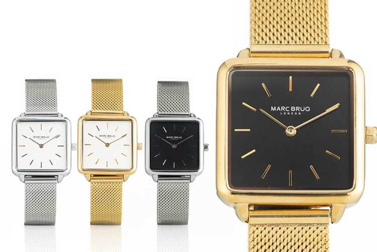 Marc Brug Square Faced Watch – 4 Designs!