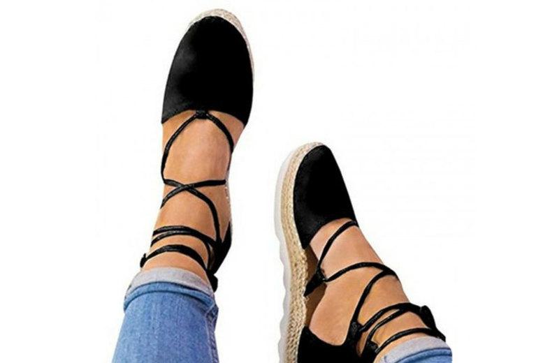 Lace Up Espadrille Sandals – 3 Colours & UK Sizes 5-7! (£12)