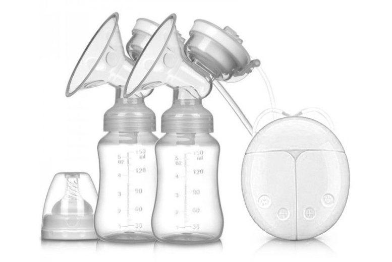 Electric Double Breast Pump w/ 2 Bottles!