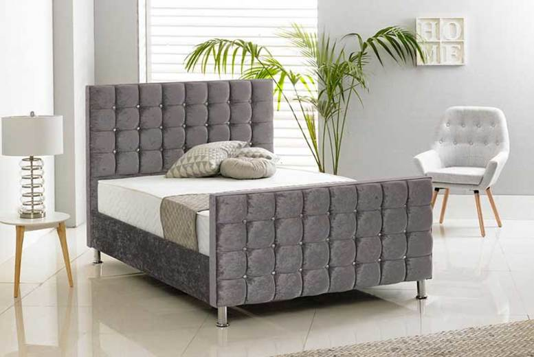 Kensington Crushed Velvet Bed – 6 Colours & 6 Sizes! (£199)