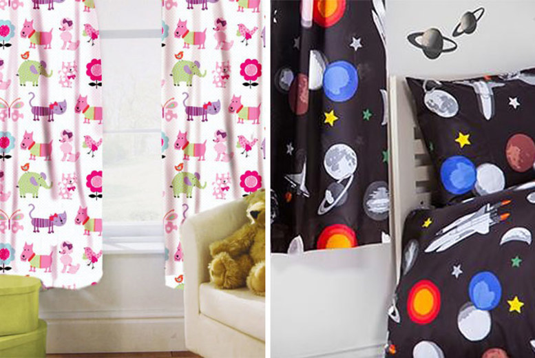 Kids Bedroom Curtains – 19 Designs & 2 Sizes! (£9.99)