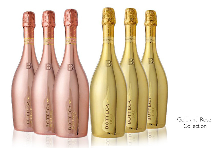 £99 instead of £164.01 (from San Jamon) for a six-bottle case of Bottega Prosecco - choose gold, rose or mixed and save 40%