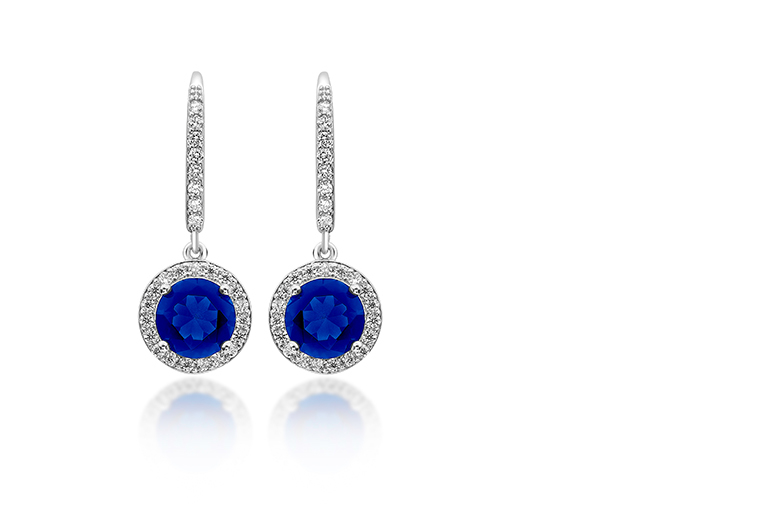£18 instead of £229 (from Gemnations) for a pair of 18k white gold plated and brilliant cut blue simulated sapphire drop earrings – sparkle and save 92%