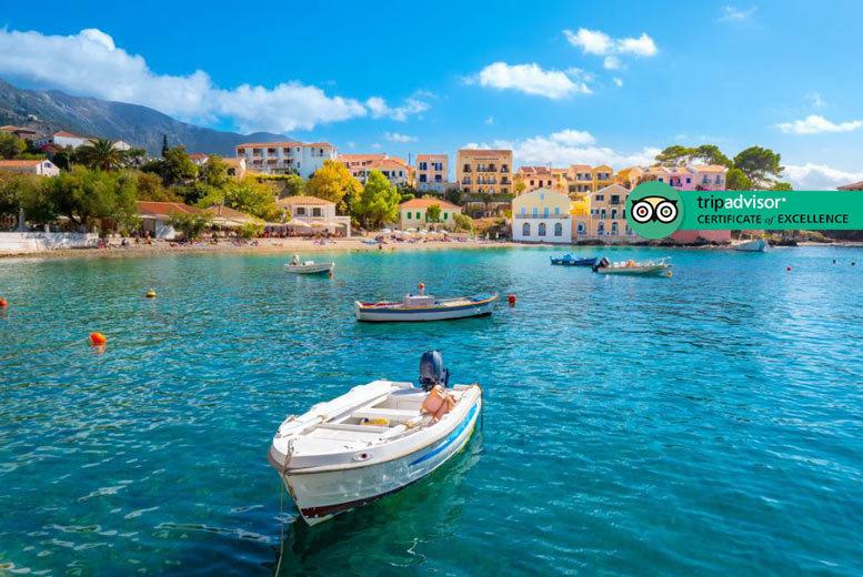 3-7nt 4* Kefalonia Getaway, Breakfast & Flights – Sea View Room!