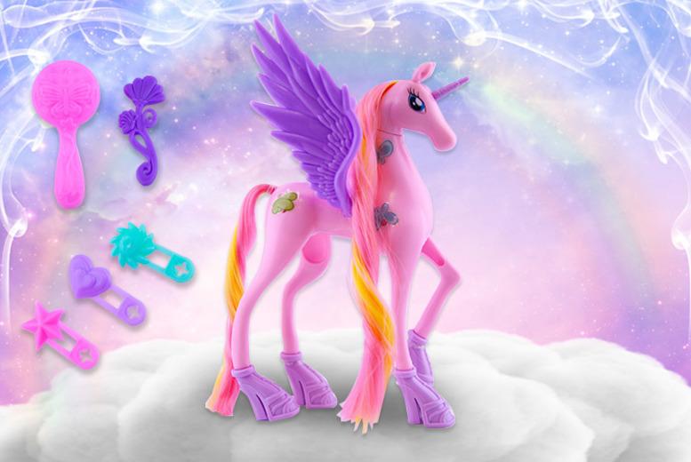 Unicorn Toy & Accessories – 3 Colours! (£5.99)