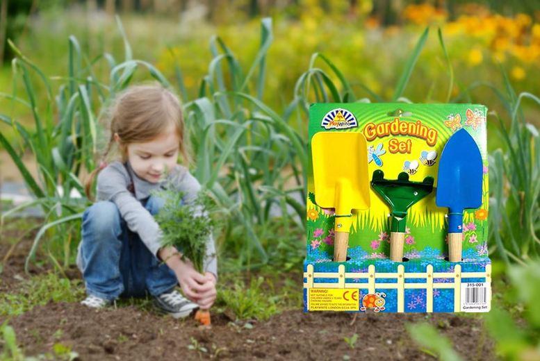 Kids Gardening Kit – Fork, Rake and Trowel (£4.99)
