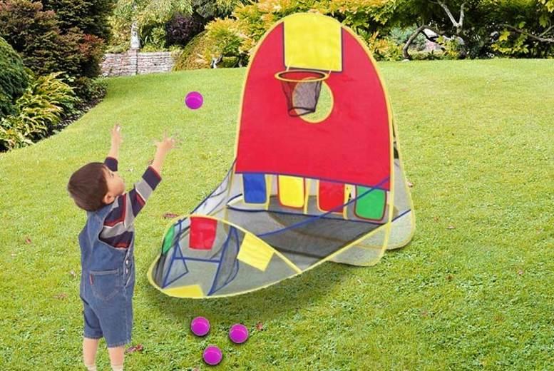 Pop-Up Kids Basketball Hoop Tent (£9.99)