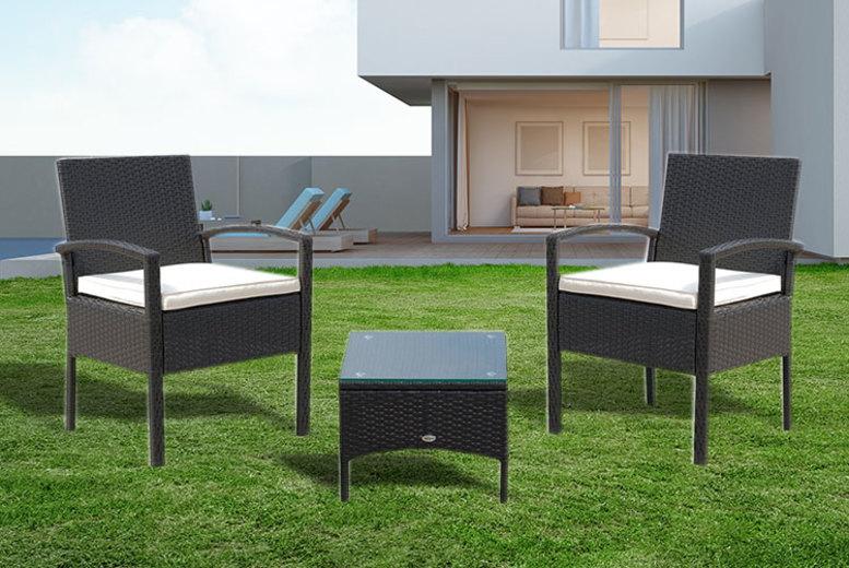 2 Person Rattan Garden Furniture Set – 2 Colours!