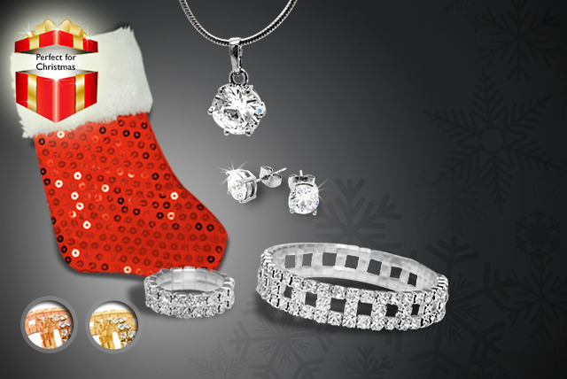 £19 instead of £200 (from Cian Jewels) for a 5-piece Swarovski Elements pre-filled Christmas stocking in a choice of colours - save 90%