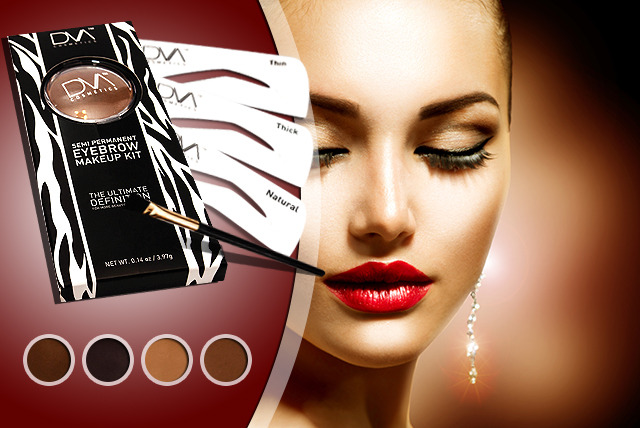 £13 instead of £30 (from DVA Beautique) for a semi-permanent brow kit inc. stencils, brush & powder in a choice of colours - save 57%