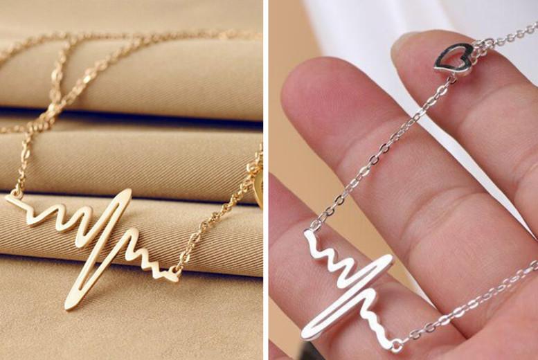 Heartbeat Necklace – 2 Colours! (£6.99)
