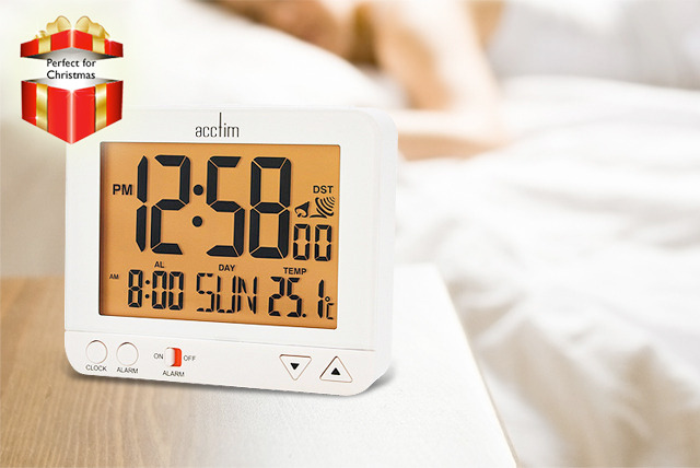 £9.99 instead of £29.99 (from AMS Global) for an LCD digital Madera alarm clock in black or white - save 67%
