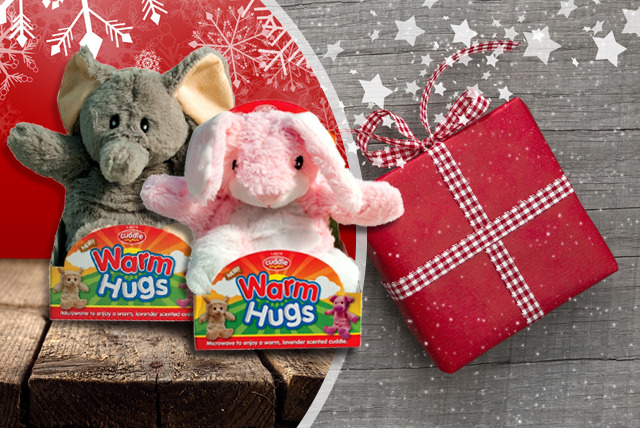 £8.99 instead of £25 (from Urshu) for a microwavable warm cuddly toy - choose an elephant, pig, sheep or rabbit and save 64%