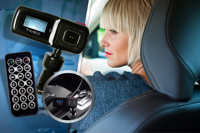 £19 instead of £54.99 (from TIME 2) for a Bluetooth hands-free car kit with FM transmitter - save 65%
