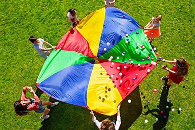 Rainbow Parachute – 2-5 Metres! (£10)