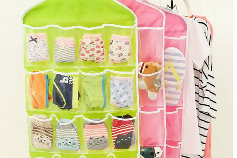 1, 2 or 4 16-Pocket Multi-Function Closet Organisers – 4 Colours! (£3.99)