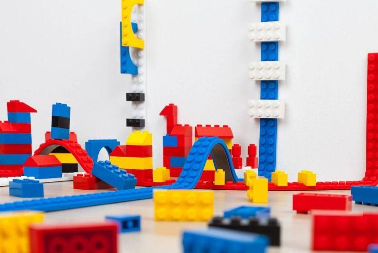 Leisure: 4 Lego-Compatible Building Block Strips - 3 Colours!