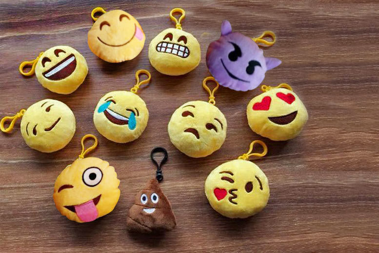 Set of 6 Emoji Keyrings (£5.99)