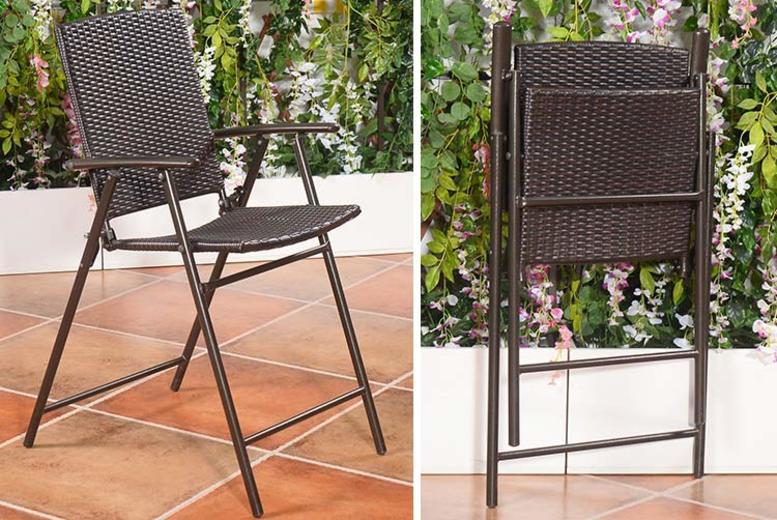 4 x Rattan Folding Garden Chairs (£129.99)