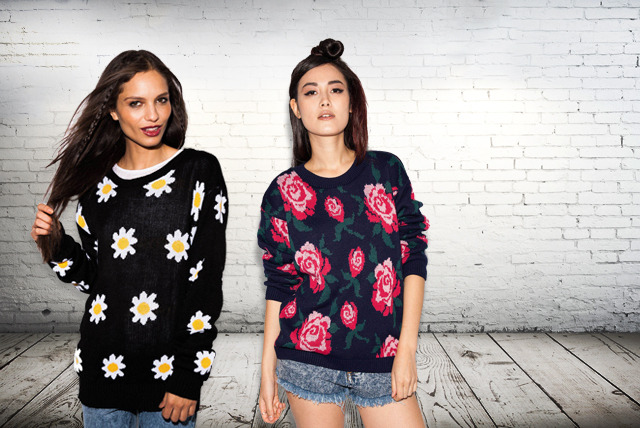 £14 instead of £29.99 (from Daisy Street) for your choice of fashionable retro floral jumper – save 53%