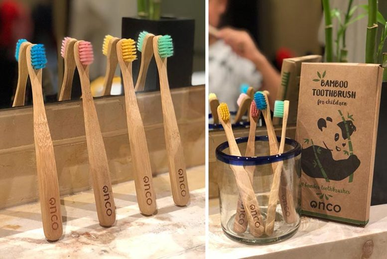 4pk Onco Children's Bamboo Toothbrushes (£5.99)