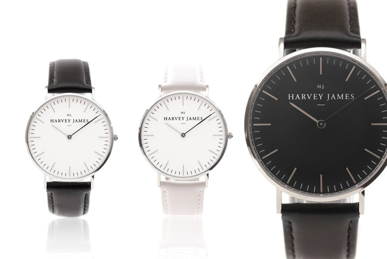 From £39 instead of £199 (from Harvey James) for a luxury unisex watch, choose from seven designs and - save up to 80%