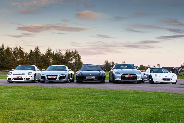 £49 for 3 laps in a choice of supercars inc. Audi R8, Aston Martin Vantage, Porsche GT3 & Ferrari 430 at Supercar Sessions, Edinburgh