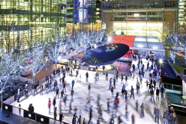 £9 instead of up to £27 for two weekday ice skating tickets for Ice Rink Canary Wharf - get your skates on this Christmas and save up to 67%