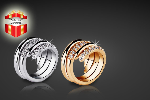 £9 instead of £42 (from Evoked Design) for a gold-plated wrap ring with Swarovski Elements in a choice of 2 colours - save 79%