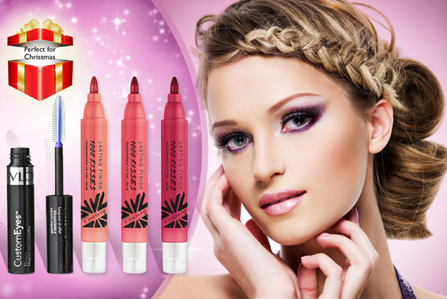 £8.99 instead of £27.96 (from JustShe) for your choice of makeup set containing 3 Rimmel lip tints and a Revlon mascara - save 68%