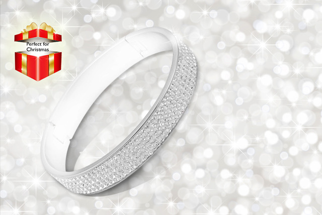 £12 instead of £44.95 (from McNeil's) for a crystal stainless steel bangle - save 73%
