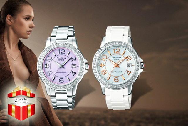 £69 instead of £200 (from Watches2U) for a ladies Casio SHEEN watch in white or silver - what's the time? Time you got a watch and saved 66%!