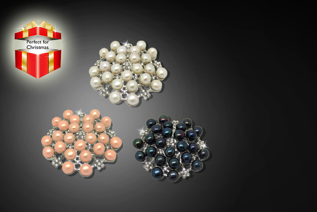 £9 instead of £25 (from Pearl Queen) for a vintage-style brooch with freshwater pearls - save a sophisticated 64%