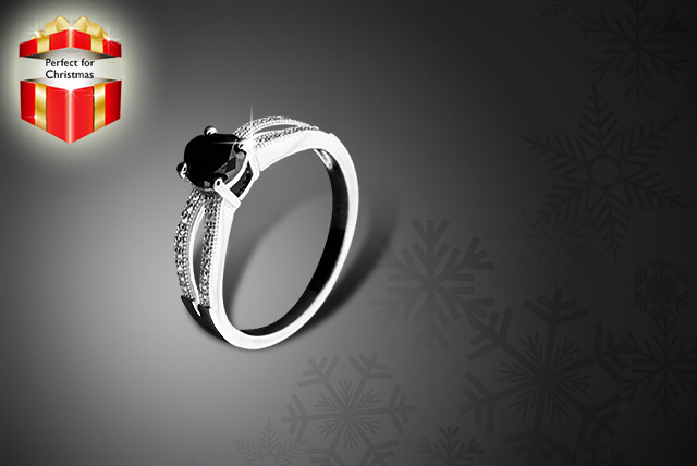 £89 instead of £399.99 (from British Gem) for a ¾ carat black diamond ring - save 78%