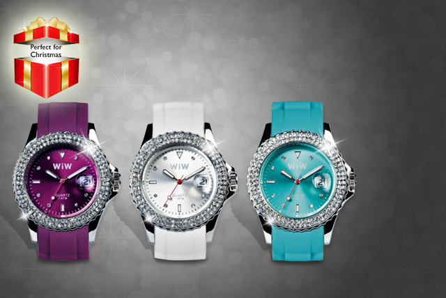 £9.99 instead of £29.99 for a Quartz Crystal Collection watch with silicone straps in a choice of colours from Wowcher Direct - save 67%