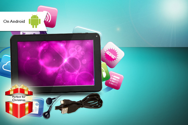 £69 instead of £139.99 (from Chimp Electronics) for a black 7-inch touchscreen Android tablet PC & accessory bundle - save 51%