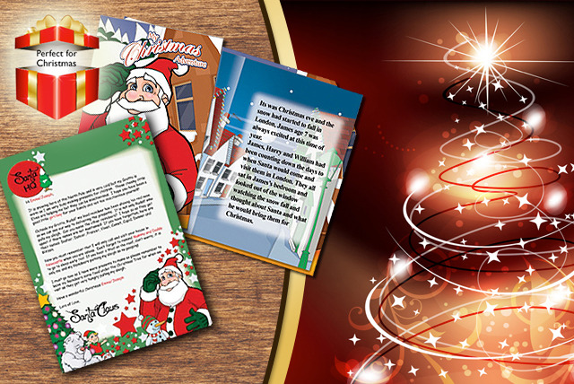 £7.99 instead of £14.99 (from Personalised 4 Kids) for a personalised children's story book and personalised letter from Santa – save 47%