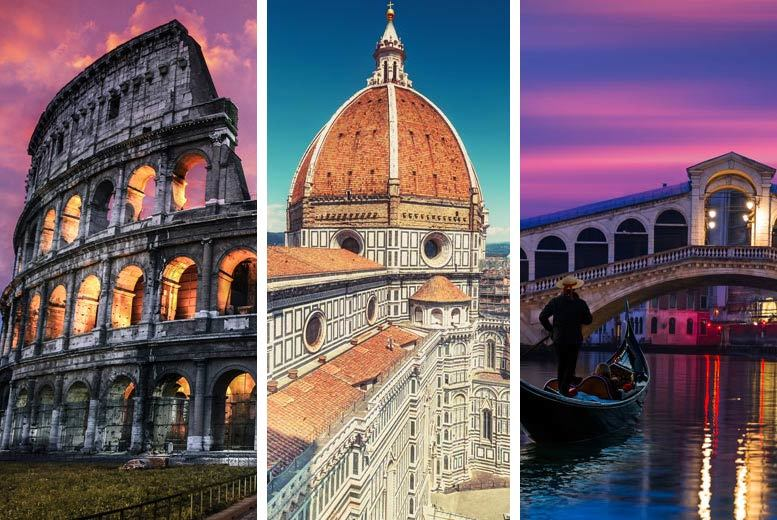 From £199pp (from Weekender Breaks) for a six-night Rome, Florence and Venice stay with return flights and transfers via train, or from £299pp for a nine-night stay - save up to 39% from Weekender Breaks