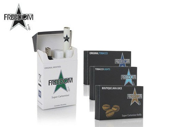 £9.99 instead of £39.98 (from Freedom Cigarettes) for an eCigarette bundle inc. refills equivalent to approximately 280 cigarettes – save 75%